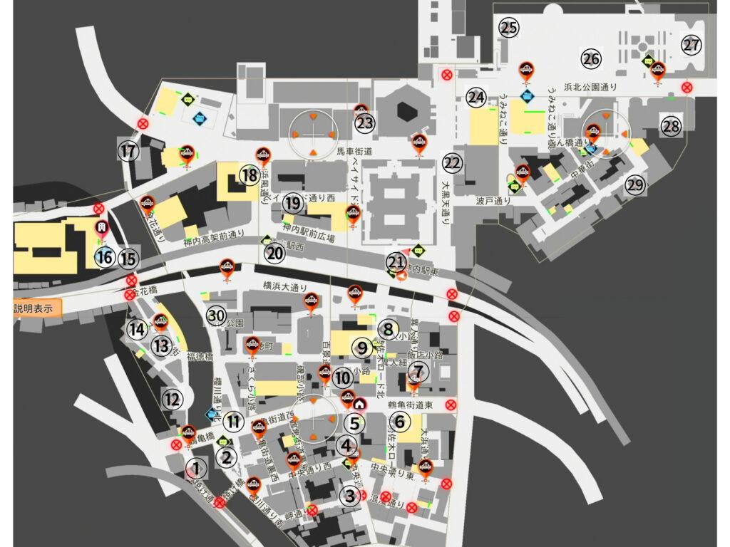 異人町のリスの絵一覧(全体図)
